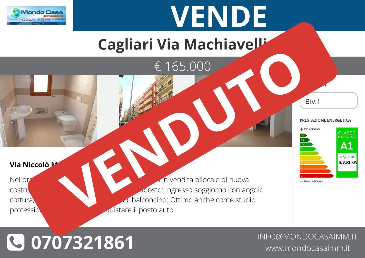Cagliari Via Machiavelli – Bivano nuova costruzione